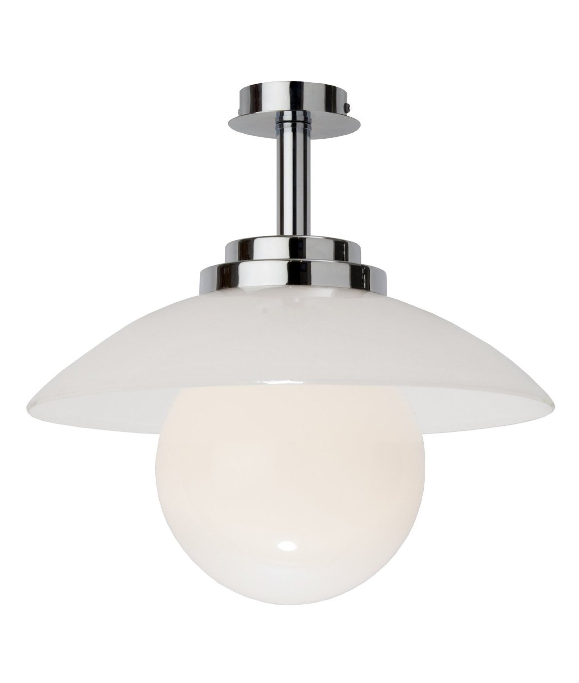 Art deco opal glass ball pendant for Art deco bathroom lighting