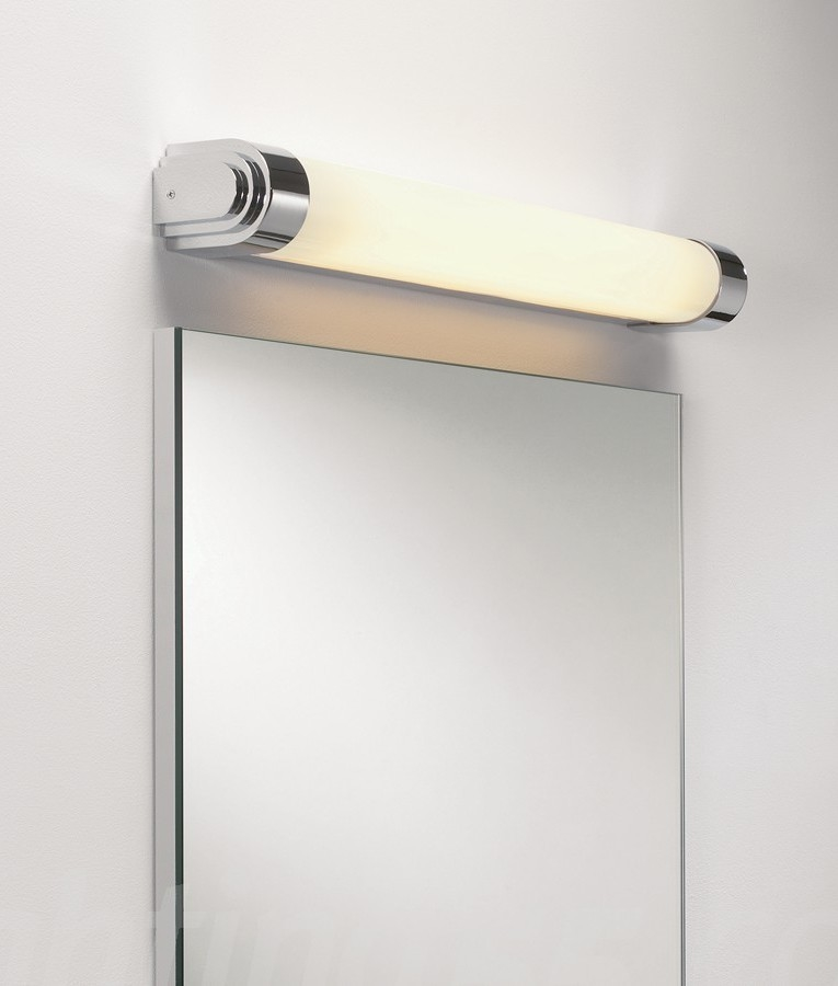 Bathroom mirror and light