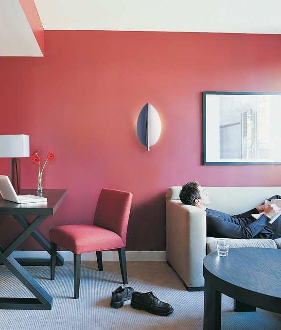 feuille plaster wall light leaf design. Black Bedroom Furniture Sets. Home Design Ideas