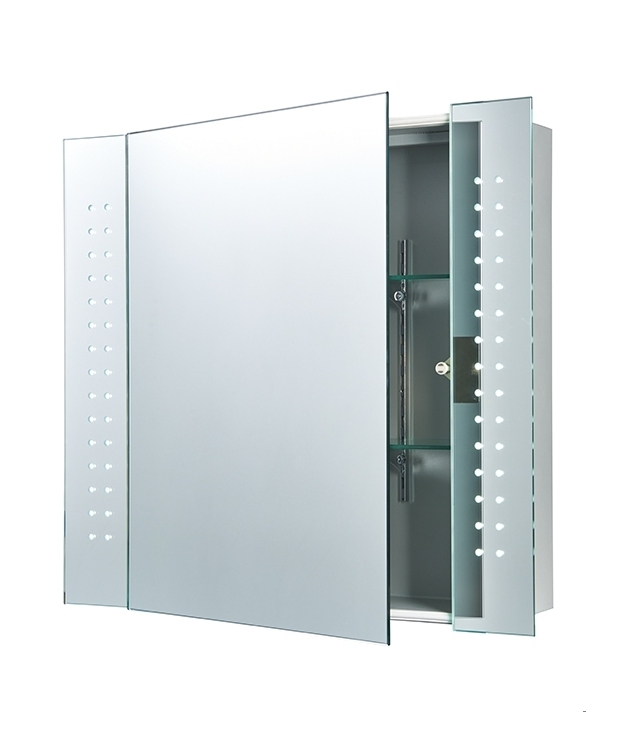 backlit bathroom cabinet bathroom cabinet with illuminated leds 600mm x 650mm 10878