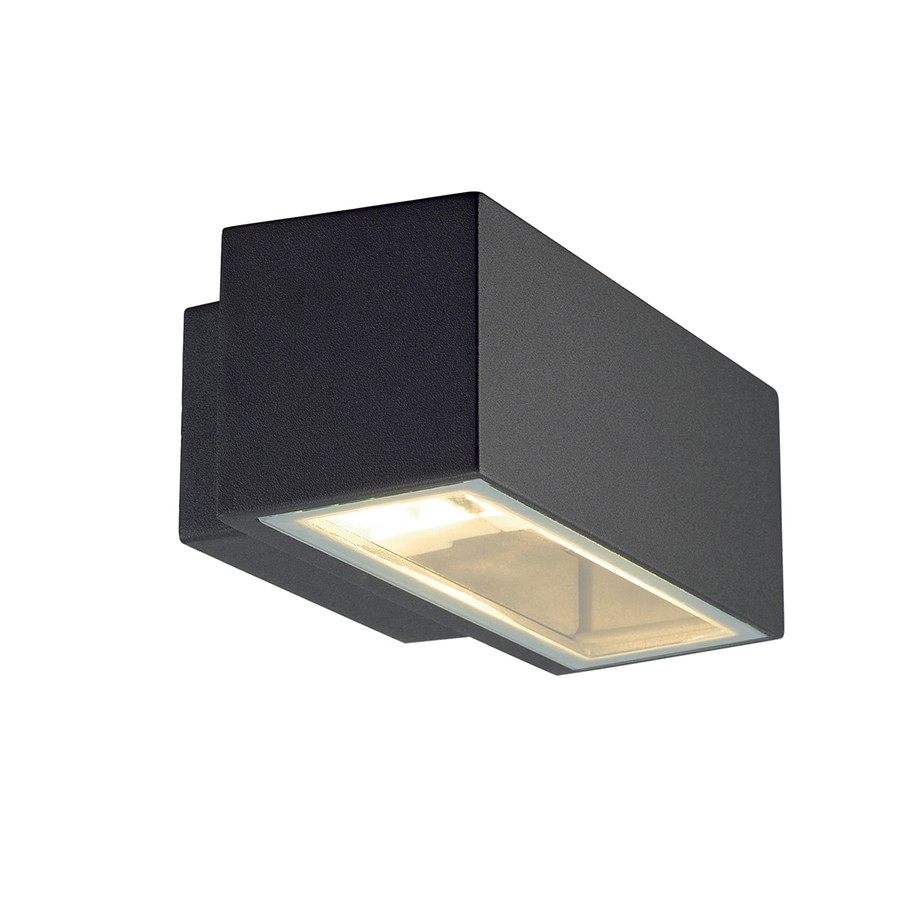 Modern box outdoor wall light with up down light for Exterior up down wall light