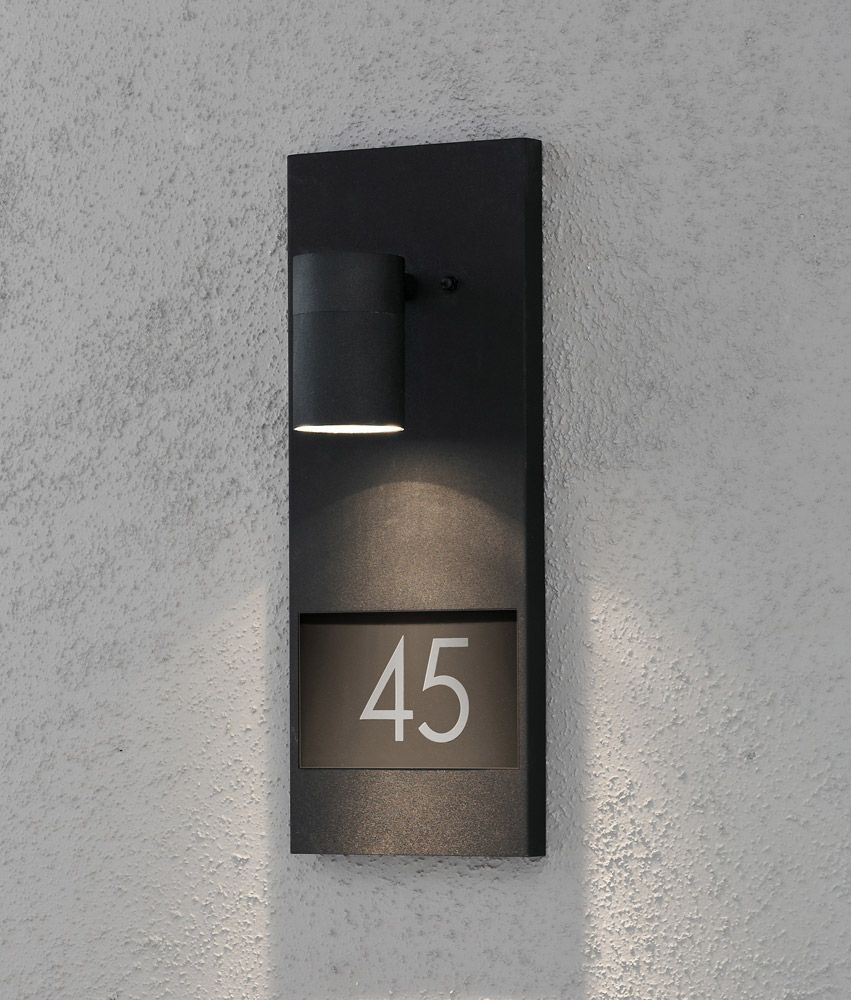 House Number Plaque With Illumination