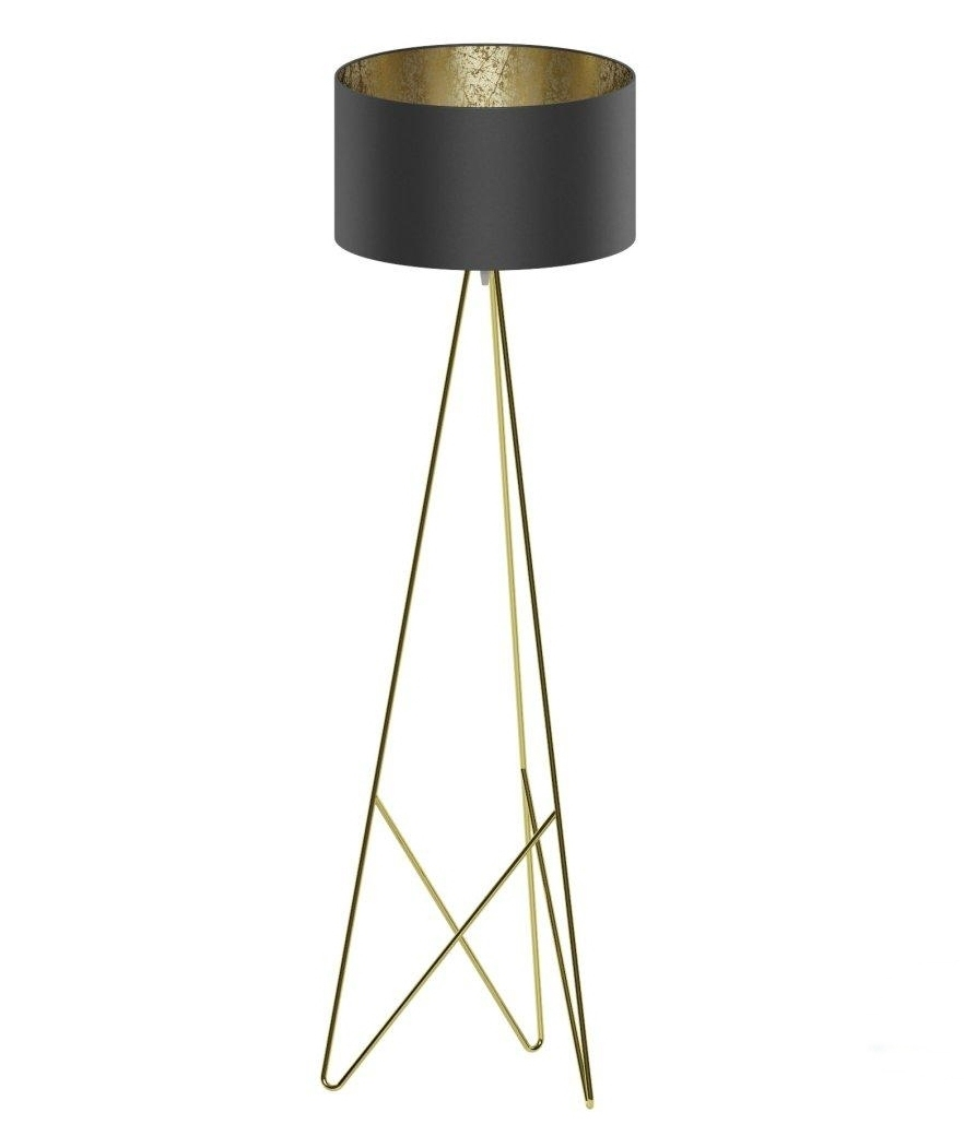 Modern Geometric Tripod Floor Lamp Shade Available