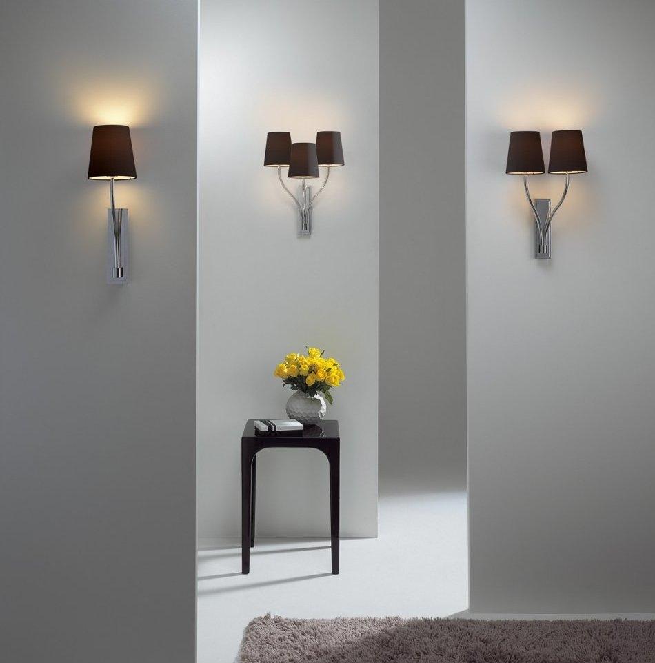 Elegant wall bracket light in chrome triple aloadofball Choice Image