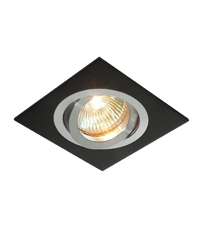 Mysterious Black Square Recessed Down Light