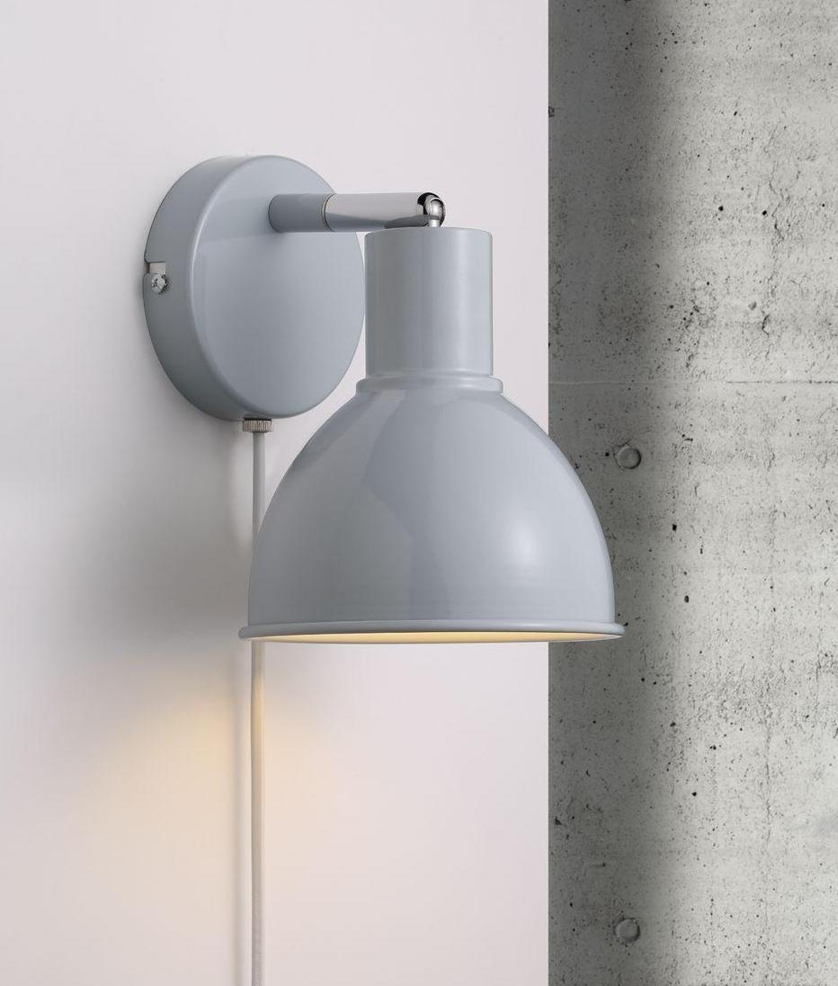 Metal Adjustable Wall Mounted Spotlight In A Postwar