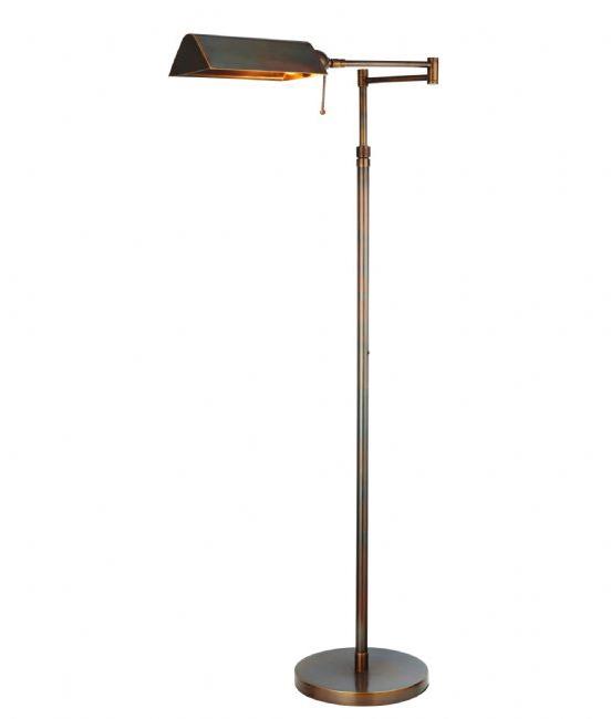 swing arm adjustable task floor lamp. Black Bedroom Furniture Sets. Home Design Ideas