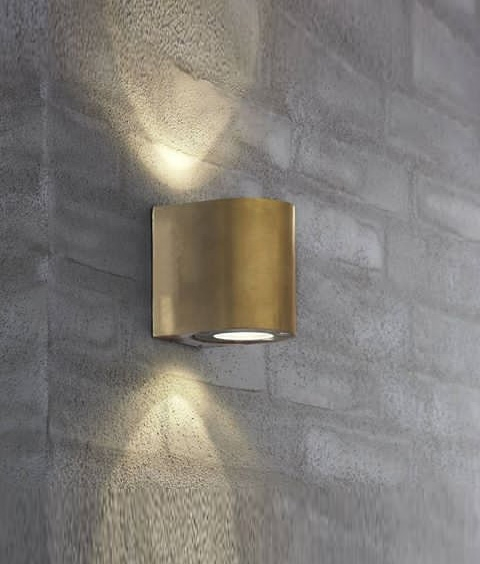 Black Up And Down Led Wall Lights : Very Funky Filtered Wall lights in Five Finishes