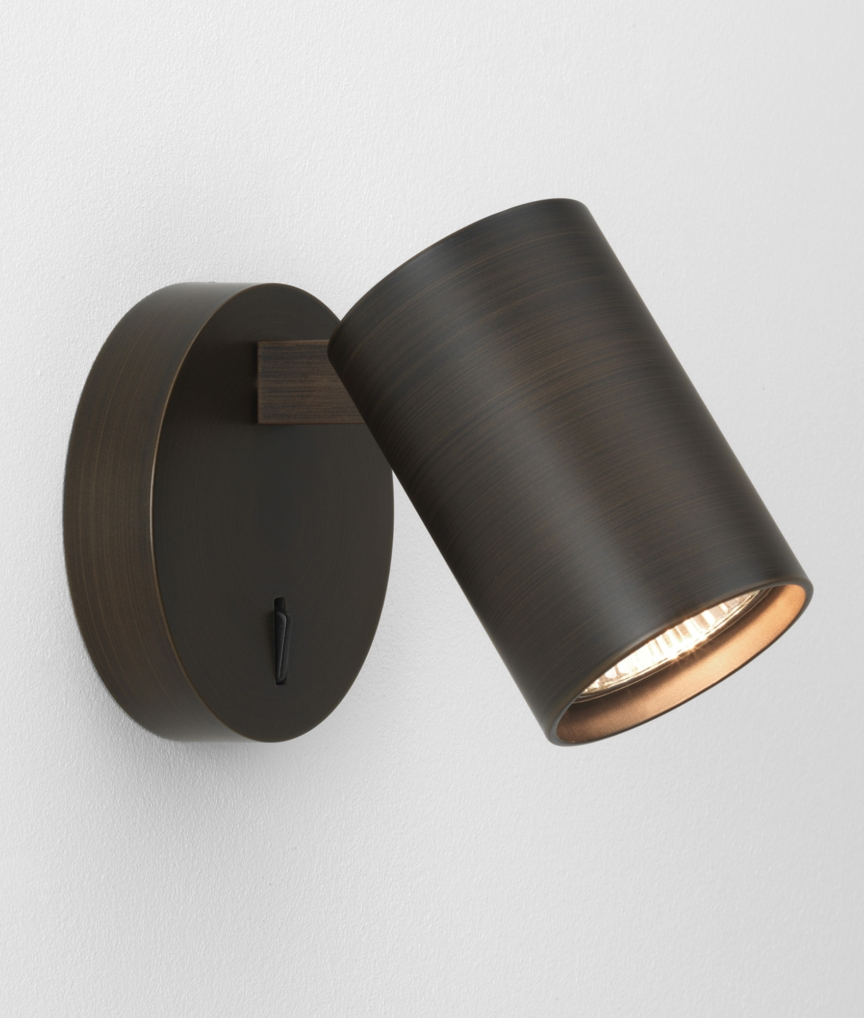 Modern Single Spotlight - White or Bronze Switched or Unswitched