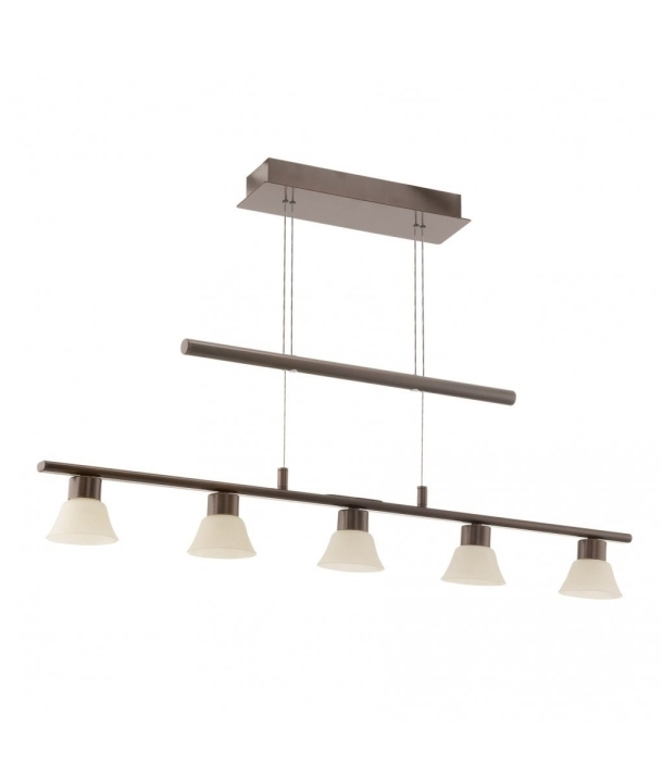 Brown Rise And Fall Kitchen Five Pendant Light