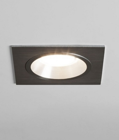 Kitchen Lighting Square: Fixed Square Recessed Mains Downlight