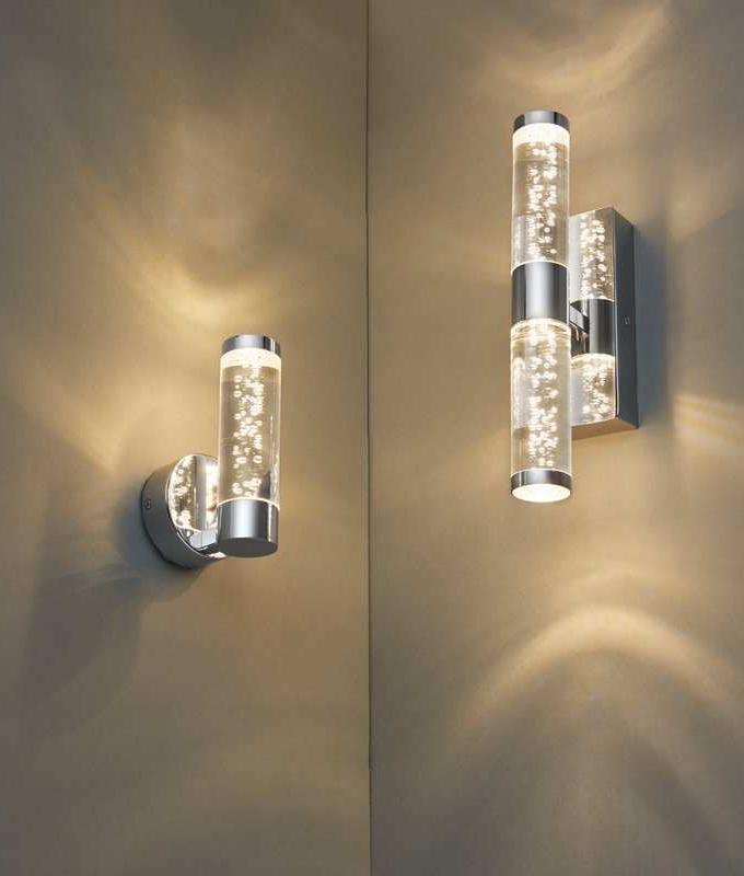 new product 2f59e 2335e Bathroom Bubble Acrylic Wall Light with LED Lamp - Two Sizes