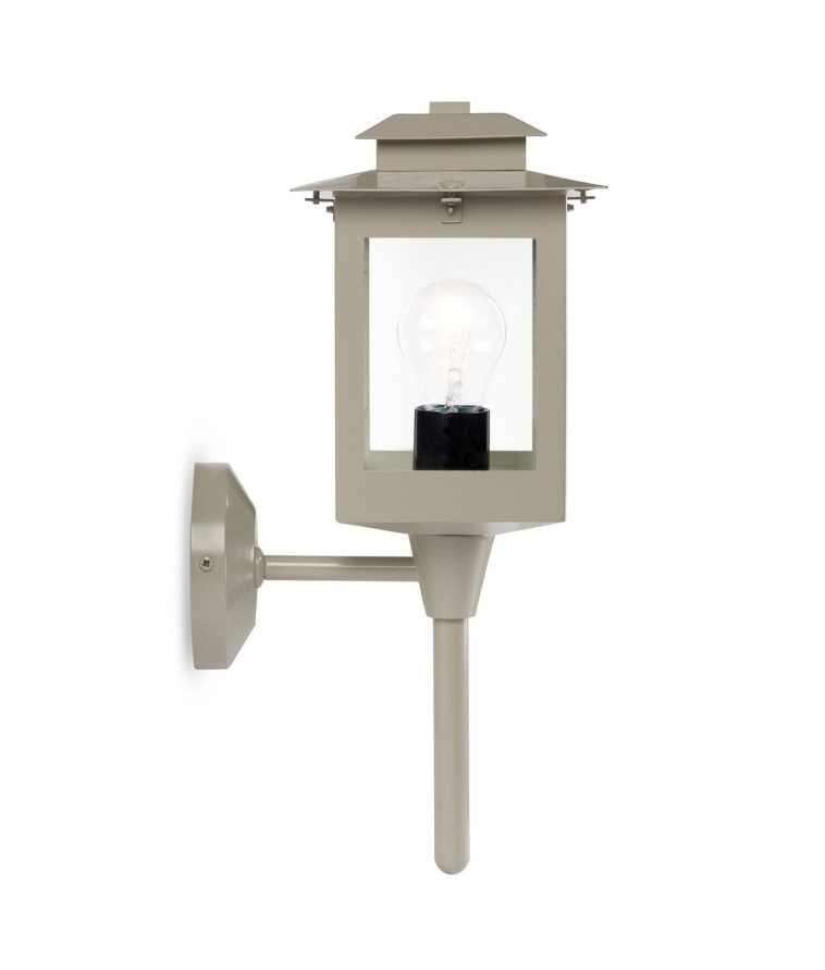 Wall Mounted Coach Lamps : Exterior coach light in traditional style with a modern clay coloured finish - IP44 rated from ...