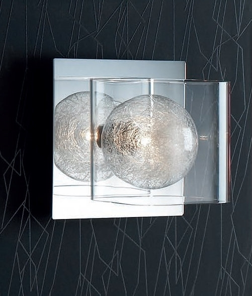 Wall Lights With Clear Glass Shades : Clear Shade & Glass Filament Inner Wall Light
