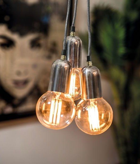 Bare Bulb Chandelier 3 Light Cluster | Industrial Light