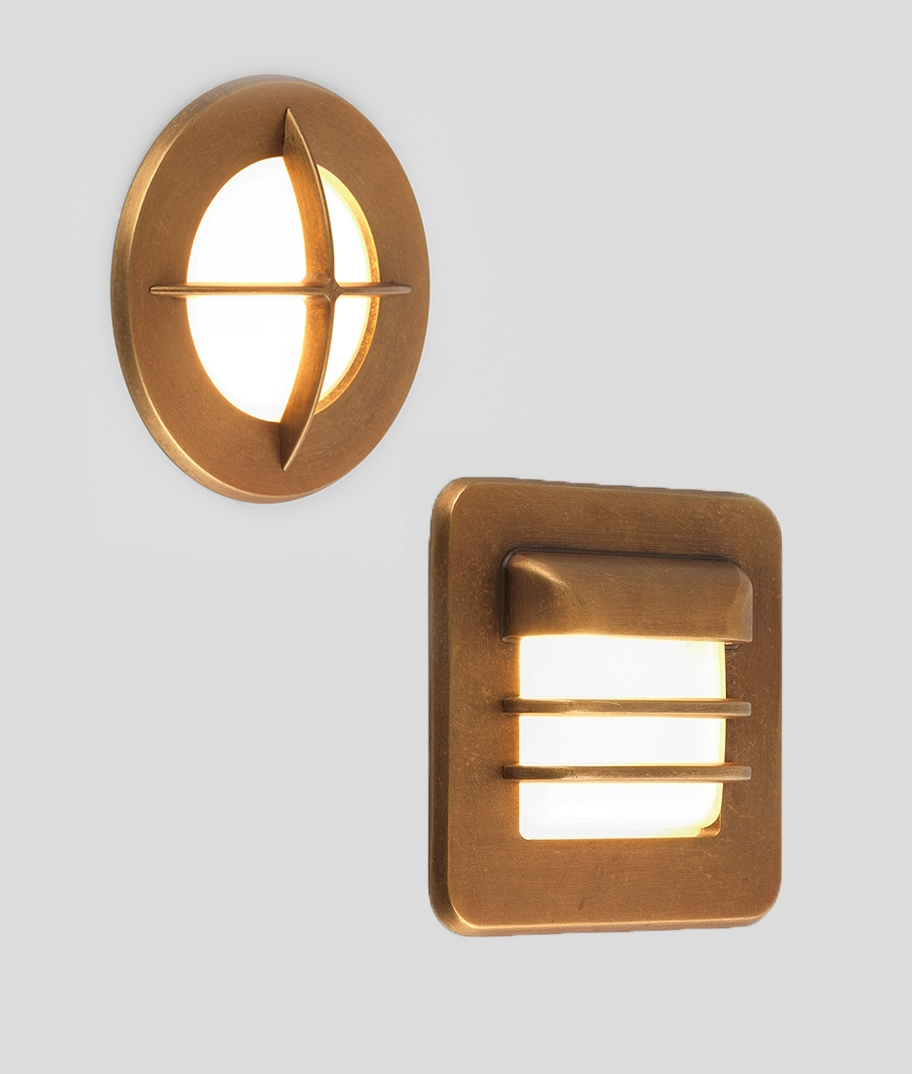 Low Level Recessed Marker Light Antique Brass Amp Two Designs