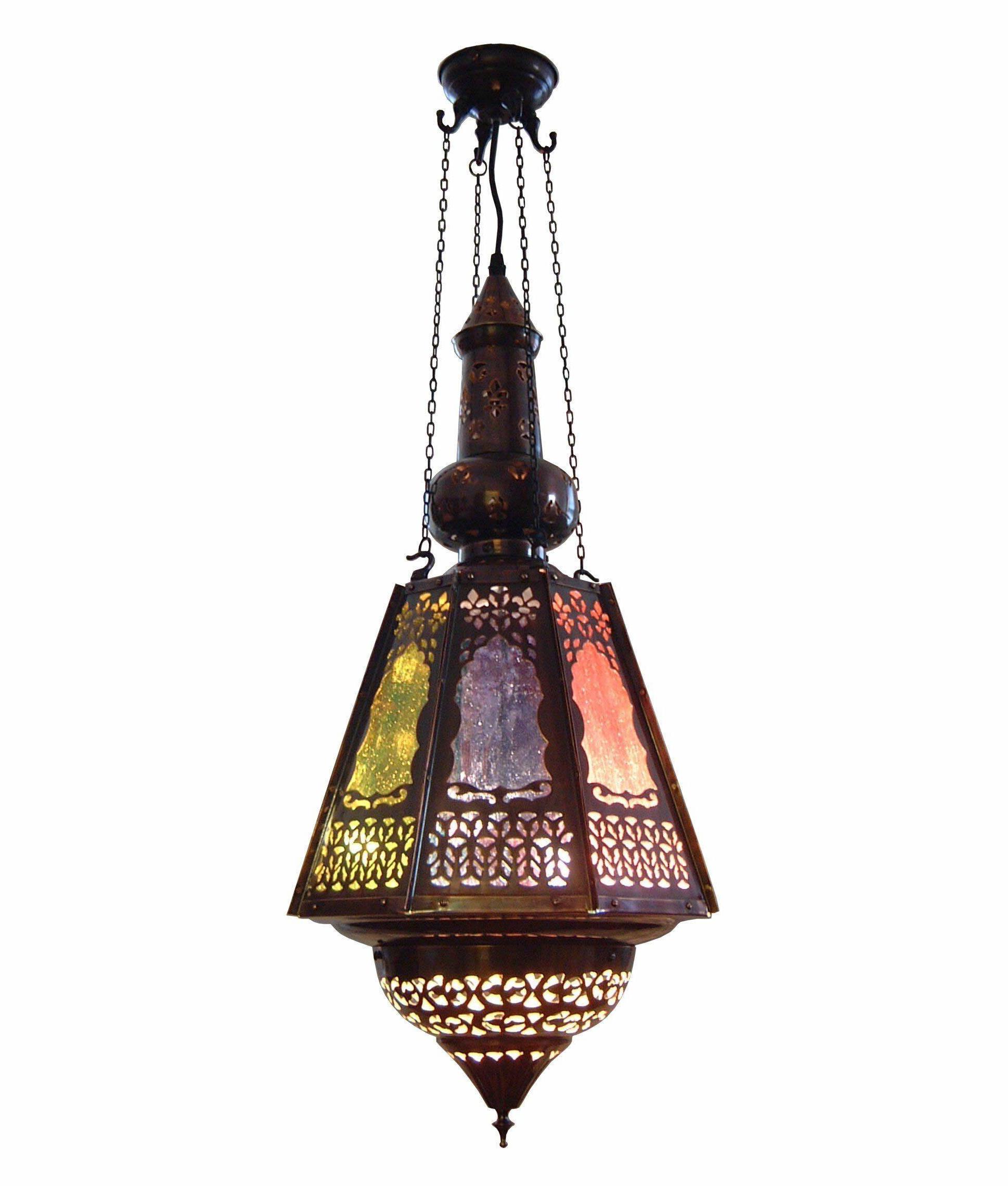 Persian Bronze Fretwork Hanging Lantern