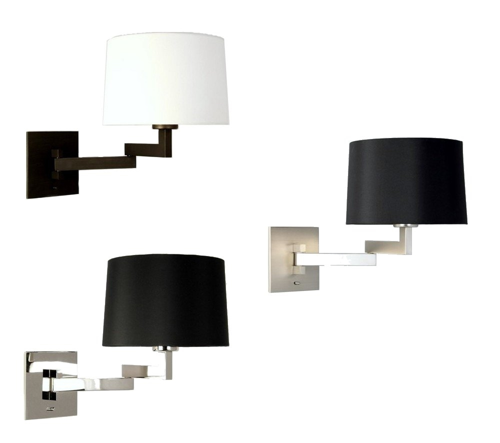Contemporary Bedside Wall Lights : Modern Bedside Light with Swing Arm Bracket