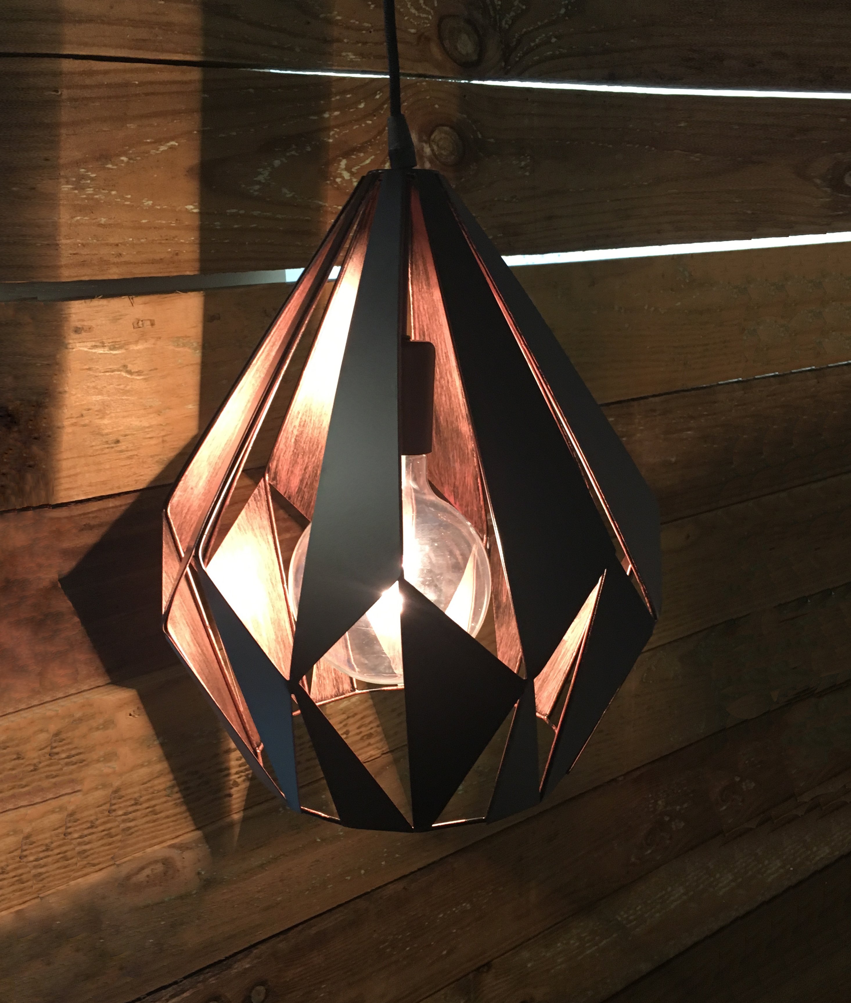 Black Laser Cut Pendant In Retro Style 4 Finishes Available