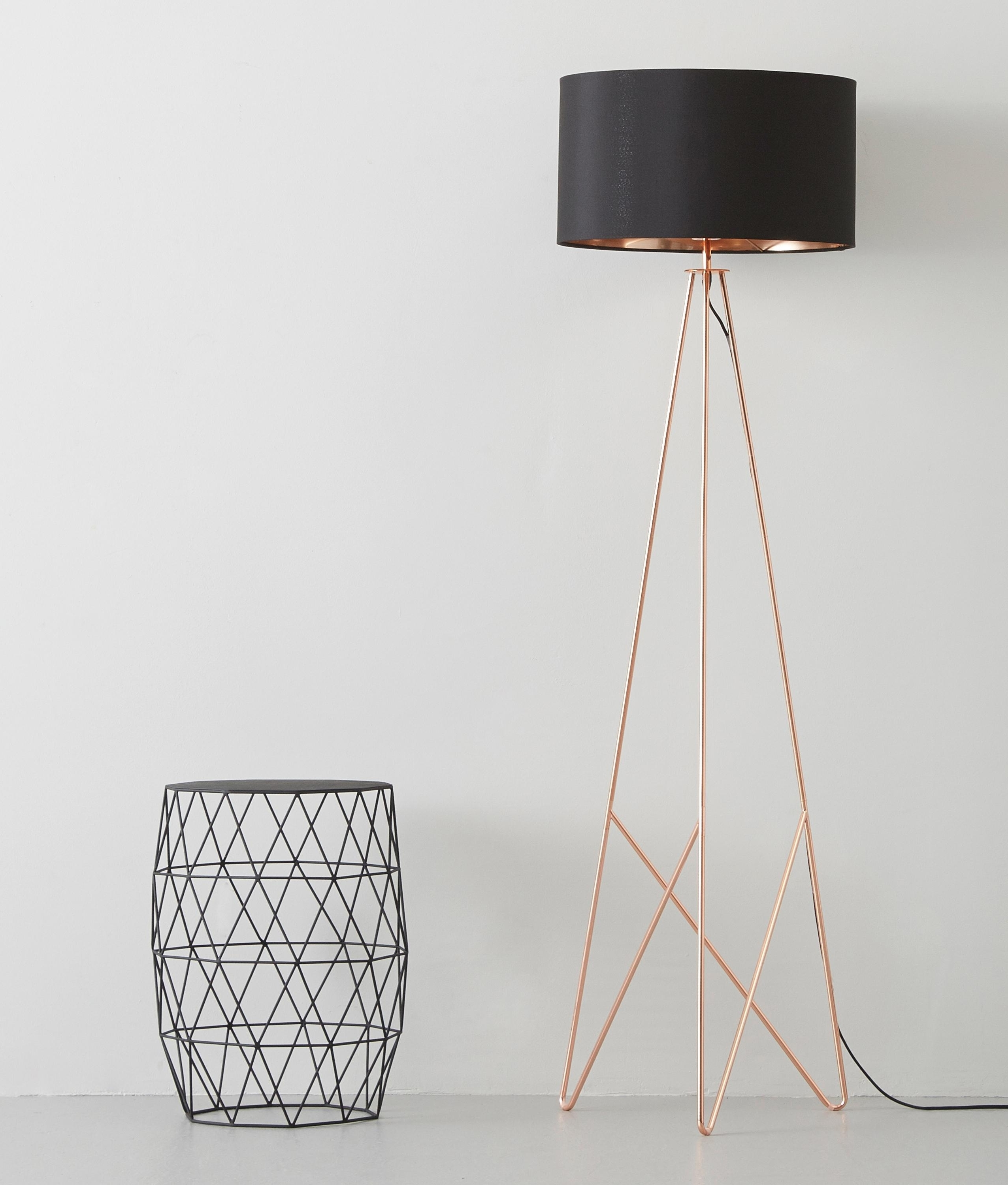 Modern Geometric Tripod Floor Lamp With Shade Available In