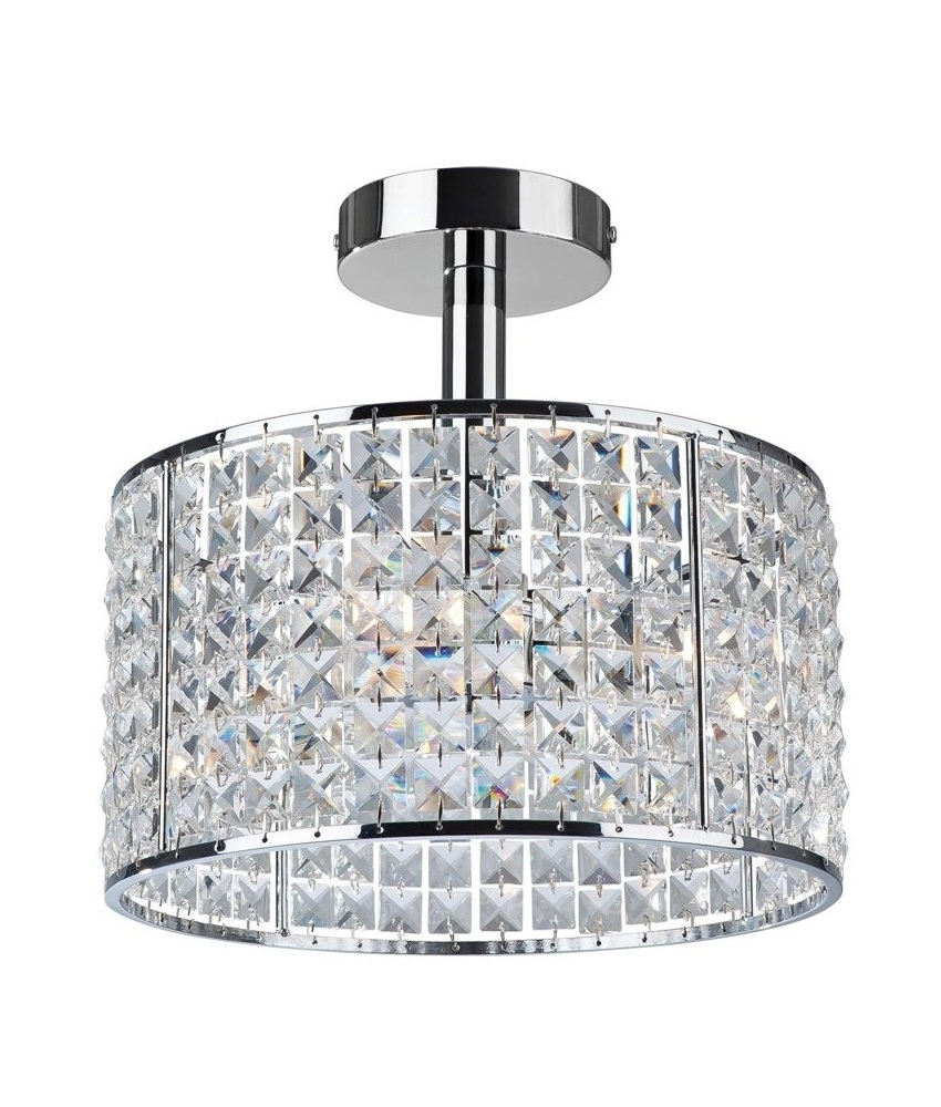 Chrome With Black Bathroom Chandeliers Uk Crystal Ceiling Light For