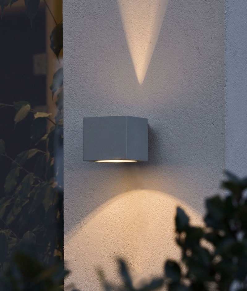 Cube Wall Up Amp Down Light With Fan Effect Light Profile