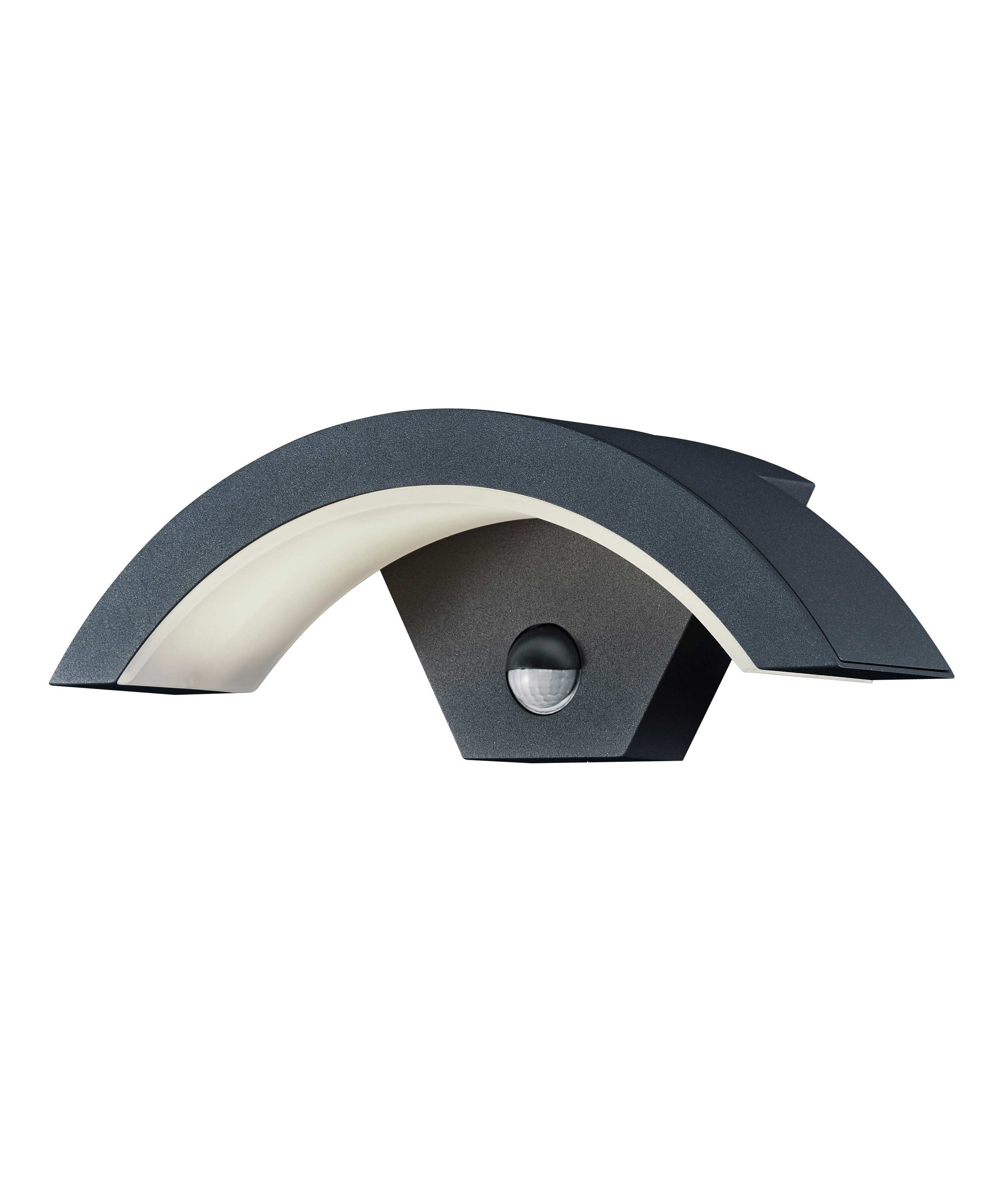 Crescent Led Exterior Wall Light With Pir
