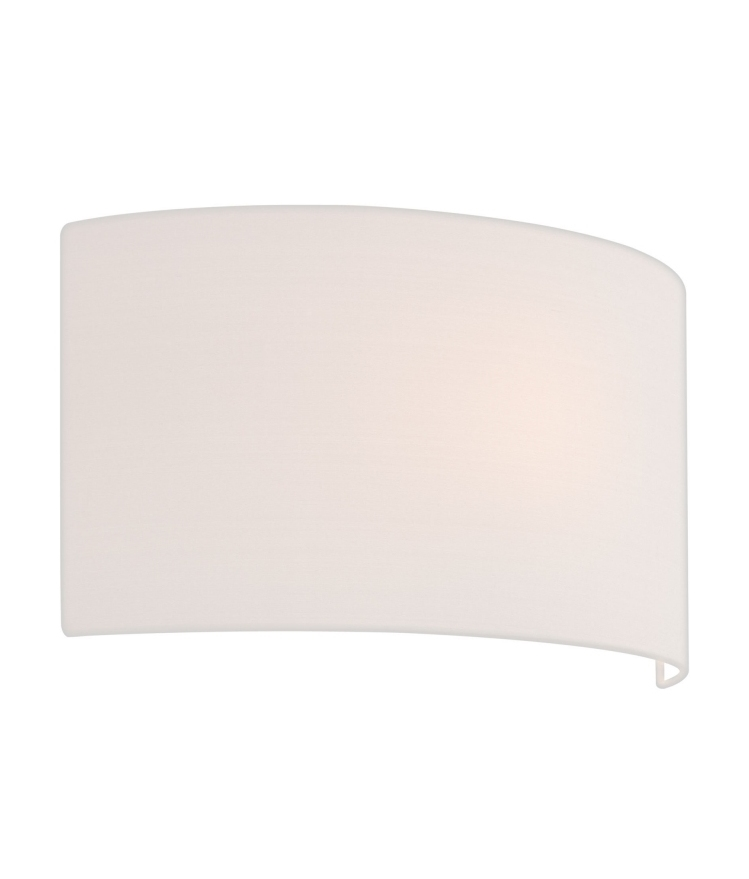 Wall mounted wall light with half shade in two finishes and four tap to expand aloadofball Choice Image
