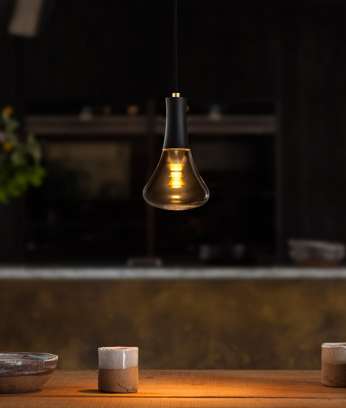 Decorative Led Plumen 003 Brown Pendant With Rose Gold