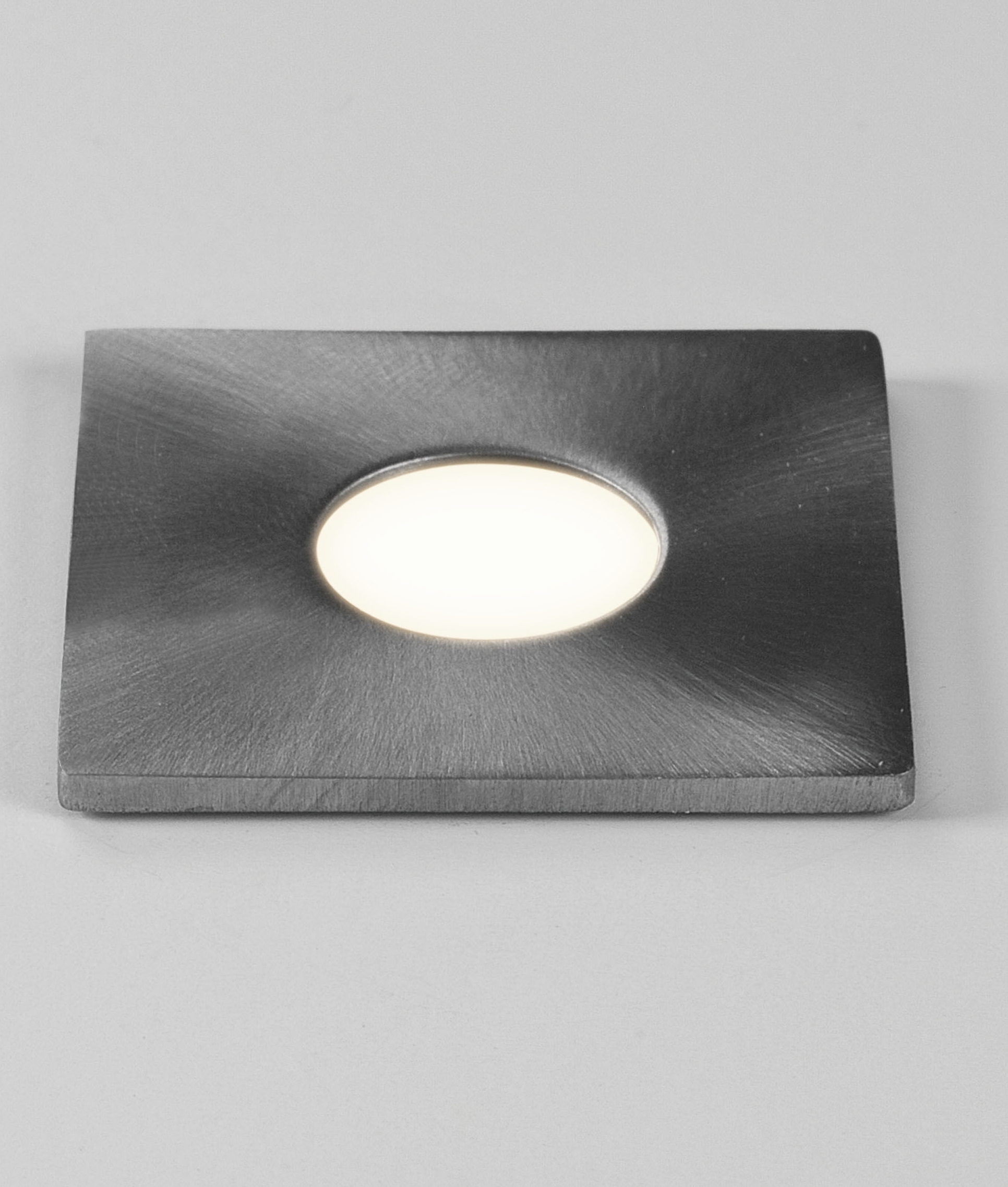Small Discreet Brushed Steel IP65 LED Light