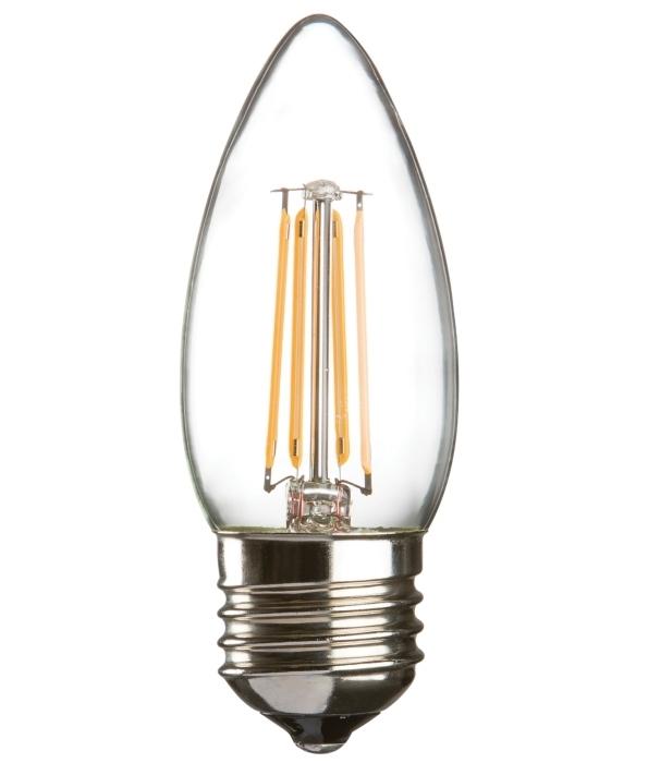 Led Filament Lamp 40w Dimbaar: 4 Watt E27 LED Filament Candle Lamp