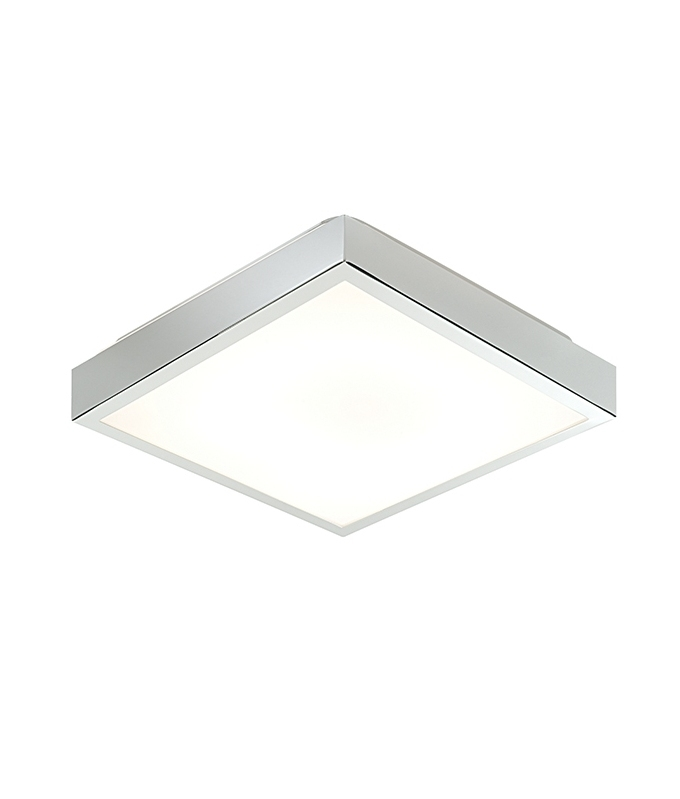 Square Chrome Flush Bathroom Fixture For 2d Fluorescent Lamps