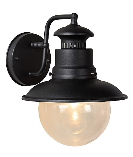 Exterior Wall Mounted Hanging Lantern With Clear Glass