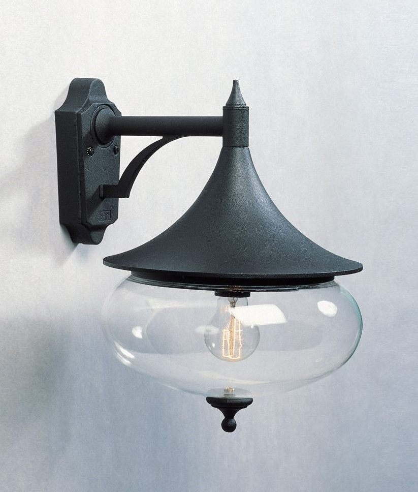 Wall Brackets For Hanging Lamps : Classy Bracket Wall Light with Clear Globe