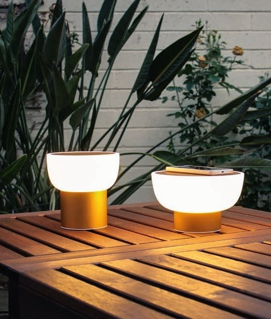 Rechargeable Via Usb Exterior Patio Table Lamp