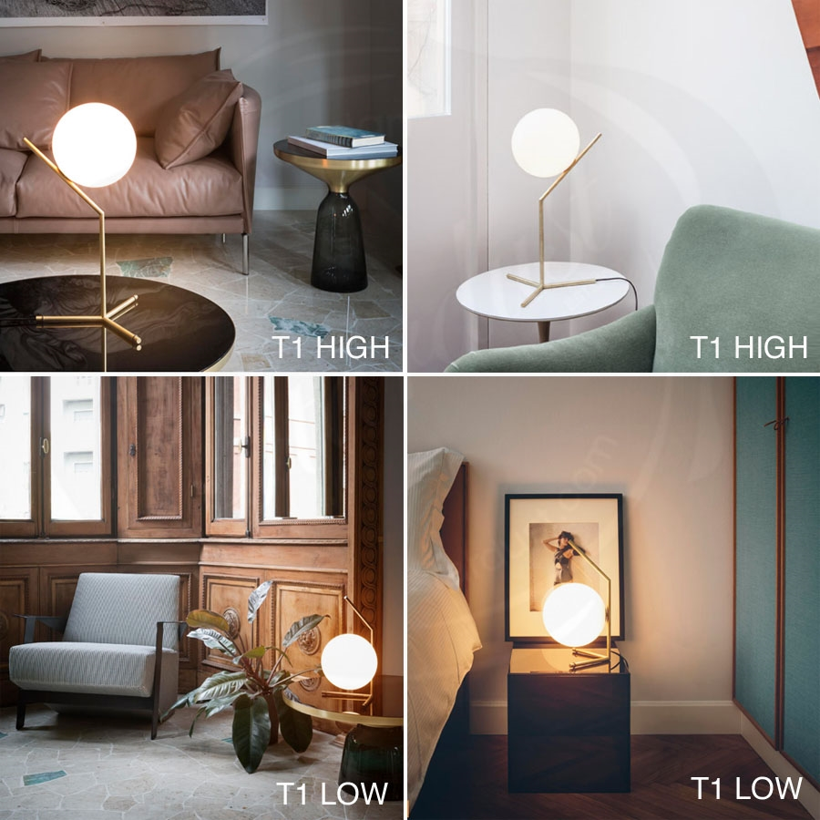 IC T1 Amp T2 Table Lamps By Flos