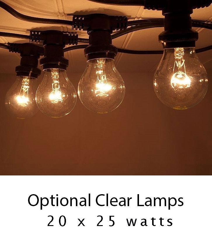 Traditional Festoon String Lights 20 E27 Mains Lamps