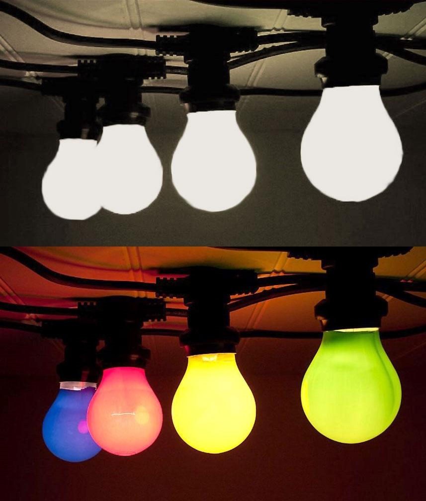 best cheap 1544c d58ff Weatherproof Plug-In Traditional Festoon String Lights - 20 Screw-in Bulbs