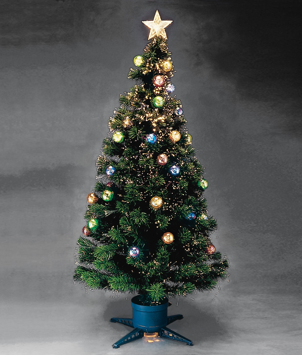 1500mm fibre optic christmas tree for Outdoor christmas baubles