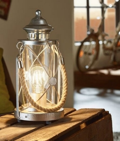 Table Lantern With Rope Handle In Fisherman S Stle