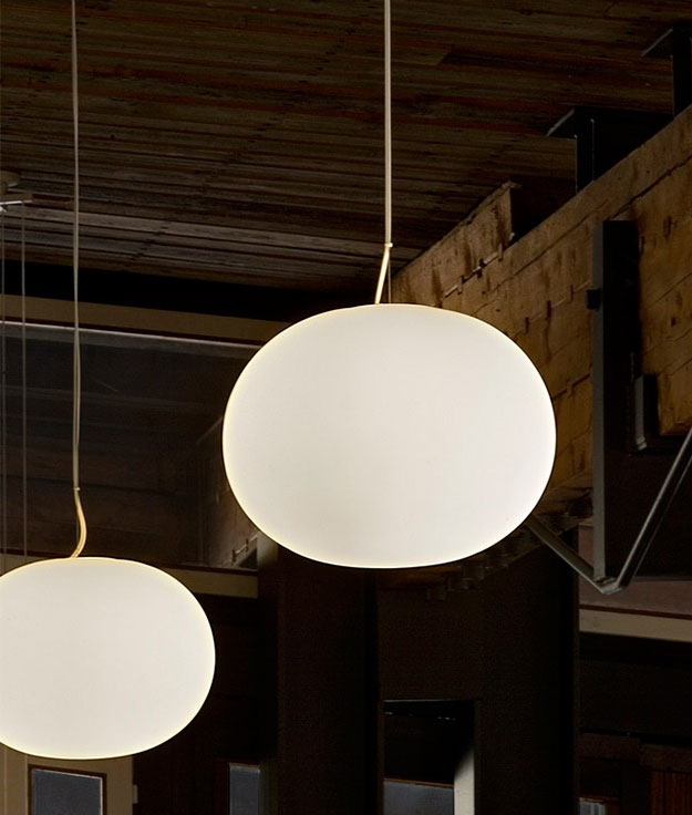 Glo ball s2 the larger opal pendant light by flos