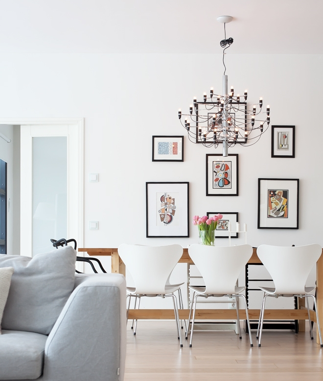 2097 Light 30 Arm Chandelier By Flos Available In Either Brass Or Chrome Finish