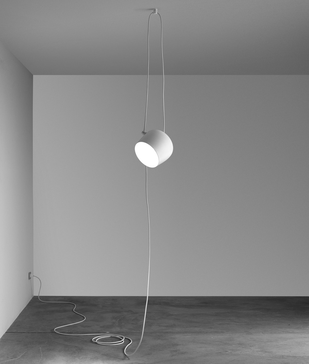 Flos White Aim Pendant With Dimmer Switch
