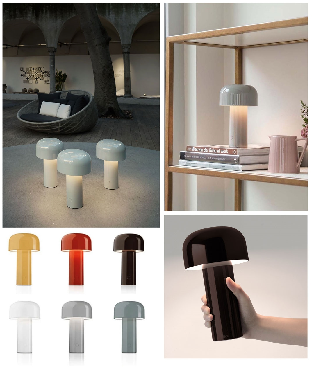 Picture of: Battery Powered Designer Table Lamp In 6 Colours Bellhop By Flos