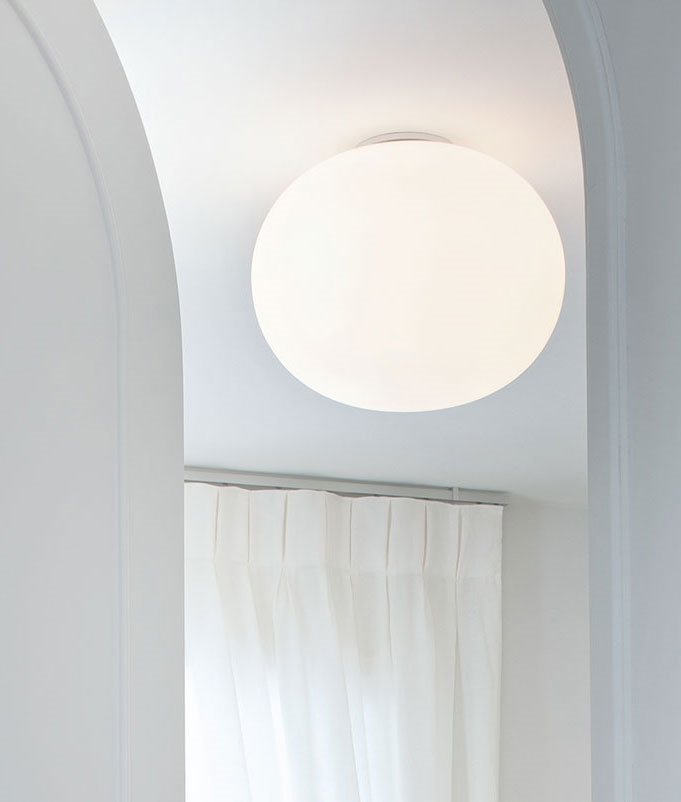 Ceiling Glo Ball by Flos Three Sizes