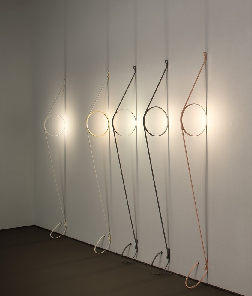 Flos Wirering Wall Light With Coloured Ring Choice