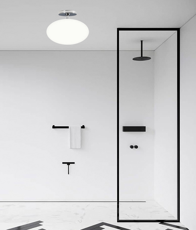 Oval Bathroom Ceiling Light Duplex, Bathroom Dome Light