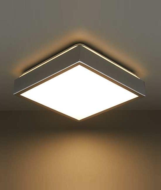 Led Flush Square Bathroom Ceiling Light