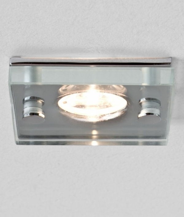 Square glass ip65 downlight