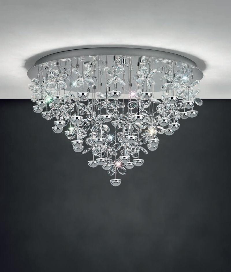 Blossom Flush Ceiling Light, 6 Arm